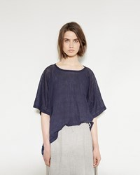 Y's Big Drape Tee Navy