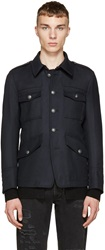 Diesel Black Gold Navy Military Coat