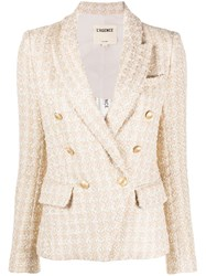 L'agence Kenzie Double Breasted Blazer Gold
