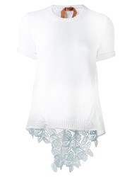 N 21 No21 Knitted T Shirt White