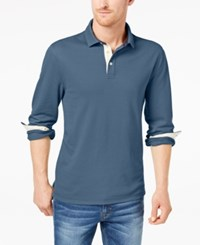 Club Room Men's Stretch Polo Created For Macy's Wedgewood Blue
