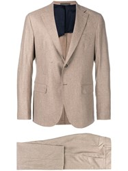 Eleventy Classic Two Piece Suit Nude And Neutrals