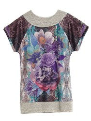 Smash Darla Short Sleeve Printed Tunic Purple