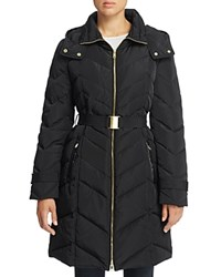 Cole Haan Chevron Quilted Jacket Black
