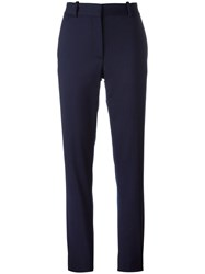 Victoria Beckham Straight Trousers Blue