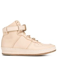 Hender Scheme Mip 01 Leather Hi Top Sneakers Nude And Neutrals