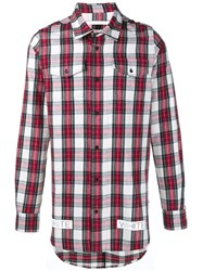 Off White Logo Printed Checked Shirt Multicolour