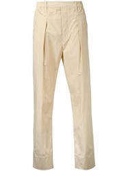 Christophe Lemaire Straight Leg Trousers Nude Neutrals