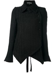 Ann Demeulemeester Dislocated Fastening Pointy Jacket Black