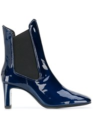 Dorateymur Patent Leather Boots Blue