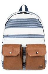 Roxy Stop And Share Backpack Blue Marshmallow Dress Blue Docker