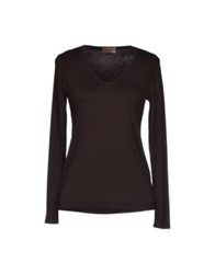 Alpha Massimo Rebecchi T Shirts Dark Brown