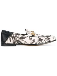 Gucci Floral Print Loafers White