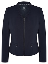 Viyella Crepe Zip Detail Jacket Navy
