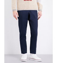 Thom Browne Regular Fit Cotton Chinos Navy