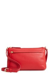 Nordstrom Mya Leather Crossbody Bag Red Red Chinoise