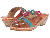 Spring Step Peeps Camel Women's Sandals Tan