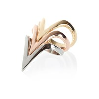 River Island Mixed Metal Triangle Stacking Ring Pack
