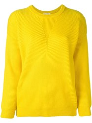 Roseanna Ribbed Jumper Yellow And Orange