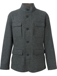 Z Zegna Detachable Gilet Jacket Grey