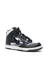 Comme Des Garcons Homme Plus Nike Pvc High Top Sneakers In Black