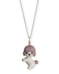 Qeelin Wang Wang Toy Poodle Pendant Necklace With White Diamonds