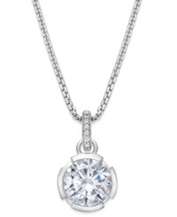 Thomas Sabo Crystal Pendant Necklace In Sterling Silver