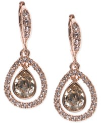 Givenchy Crystal Orbital Pave Drop Earrings Rose Gold