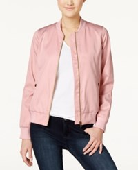 Hippie Rose Juniors' Bomber Jacket Blush