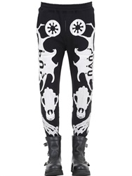 Ktz Skeleton Puff Print Cotton Jogging Pants