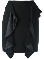 Givenchy Draped Panel Mini Skirt Black