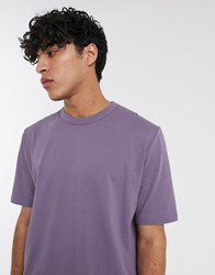 Asos White Loose Fit T Shirt In Purple