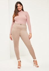 Missguided Plus Size Camel High Waisted Skinny Jeans