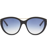 Roland Mouret Jones Cateye Aviator Sunglasses Black