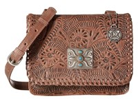 American West Grand Prairie Flap Crossbody Dusty Rose Cross Body Handbags Pink