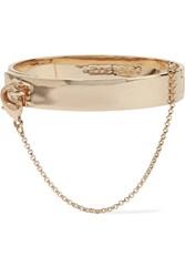 Eddie Borgo Safety Chain Gold Plated Bracelet One Size