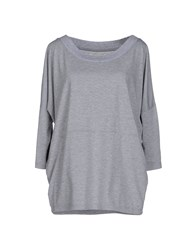 Selected Femme Topwear T Shirts Women Light Grey