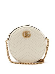 Gucci Gg Marmont Circular Leather Cross Body Bag White