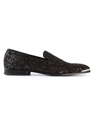 Alexander Mcqueen Glittered Slippers Black