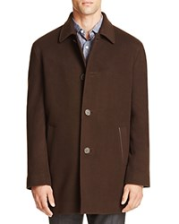 Cole Haan Wool Cashmere Topper Coat Espresso