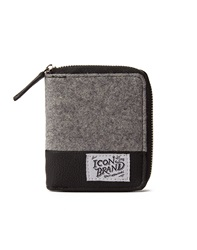 Icon Brand Bifold Wallet With Zip