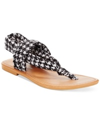Rampage Taxi Flat Thong Sandals Women's Shoes Houndstooth