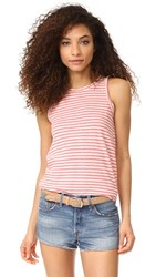 Current Elliott The Muscle Tee Red Anchor Stripe