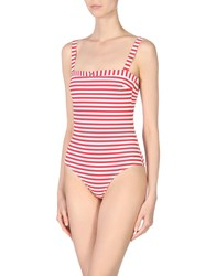 Emporio Armani Ea7 One Piece Swimsuits Red