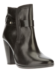 Christophe Lemaire Shearling Lined Ankle Boot Black