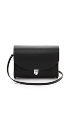 Cambridge Satchel Large Push Lock Bag Black