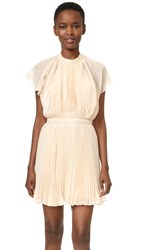 Keepsake Come Back Pleated Mini Dress Cream