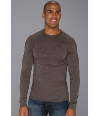 Smartwool Midweight Crew Neck Shirt Taupe Heather Men's Clothing