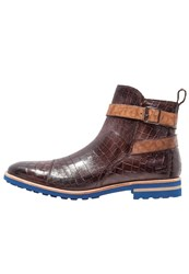 Melvin And Hamilton Eddy 9 Boots Dark Brown Tortora Crip Blue