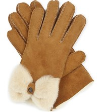 Ugg Classic Bow Shorty Gloves Chestnut